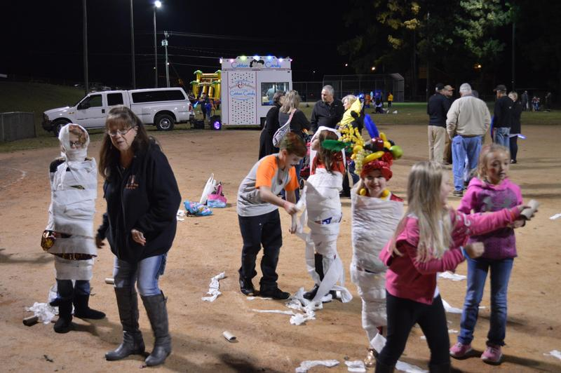 Students, parents, and staff members attended the fall festival.