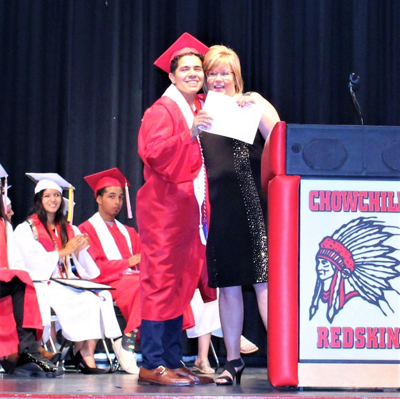 Kristean Robles, CUHS Principal Doreen Castillo
