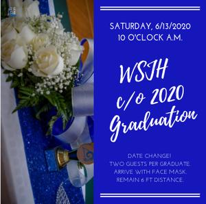 WSJH Graduation Announcement