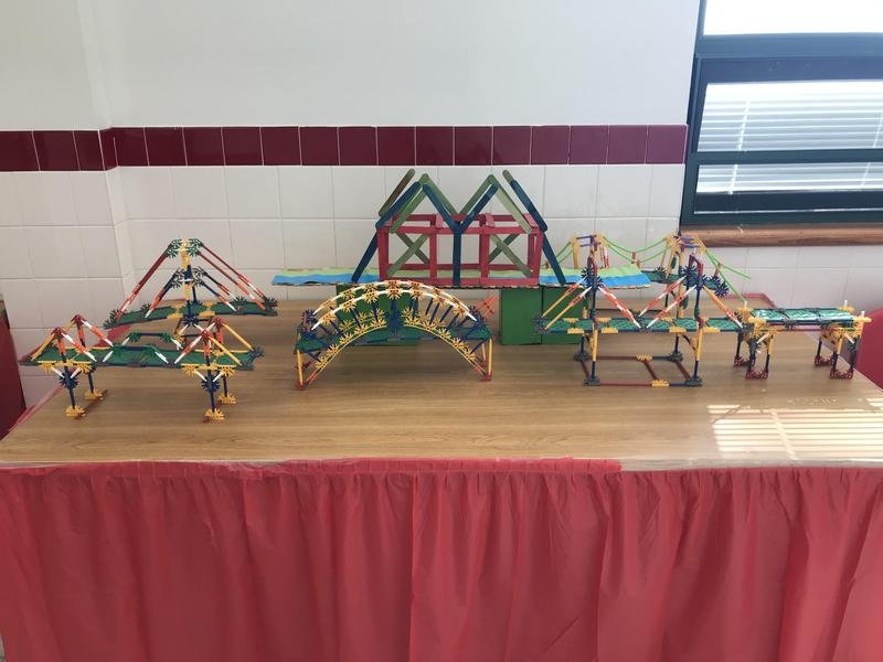 Bridge building structures made out of popsicle sticks