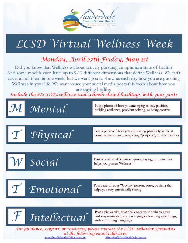LCSD Wellness Week Flyer