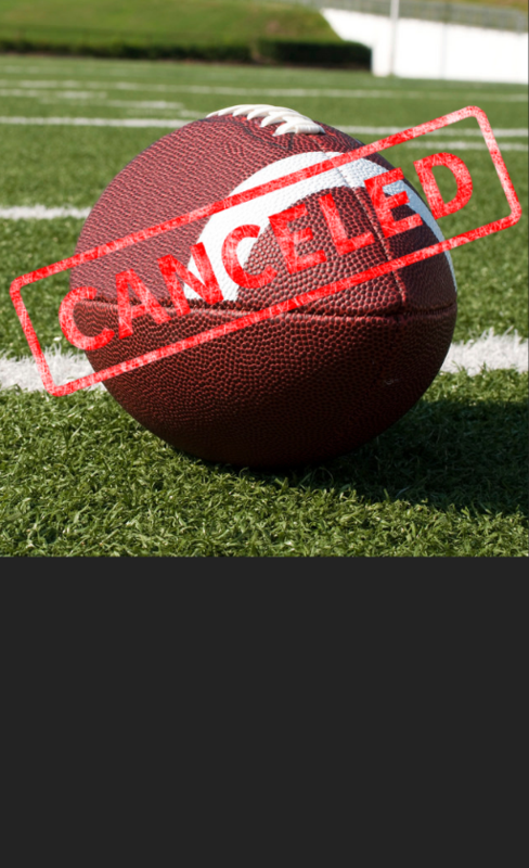 football canceled
