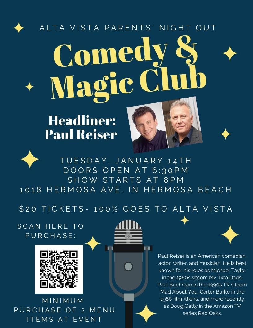 Purchase tickets at https://a-night-out-at-the-comedy-magic-club.cheddarup.com