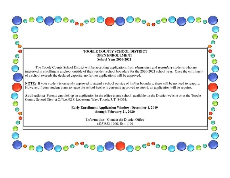 Poster with balloons about Open Enrollment