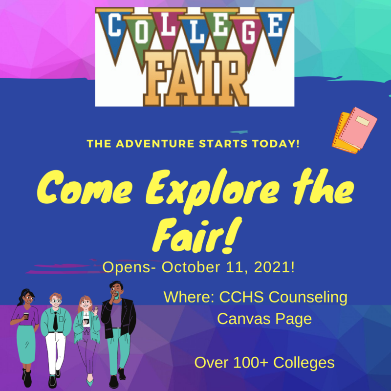 Annual College Fair begins October 11! Thumbnail Image