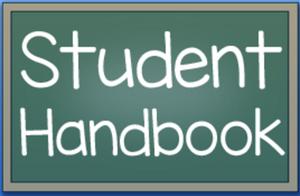 student handbook sign
