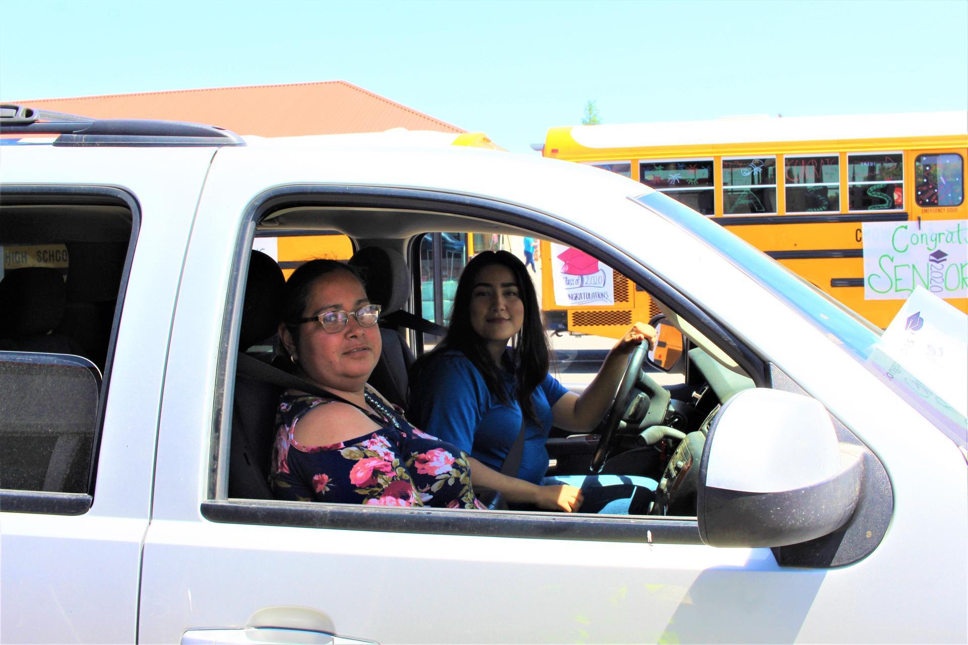 Guadalupe Reyes driving through
