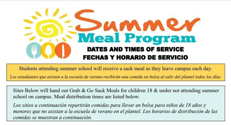 Summer Meal Distribution