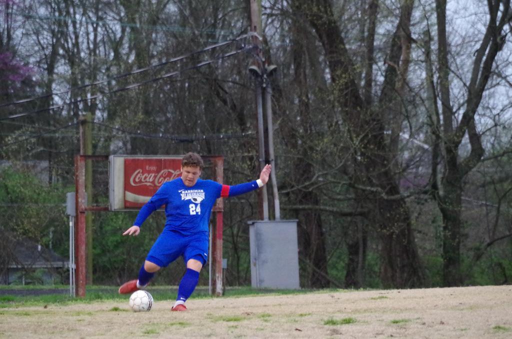 1018 HHS Soccer - Acosta mid-field kick