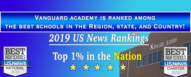 Vanguard Academy ranks in the top 1% of all high schools in the Nation!!! Featured Photo