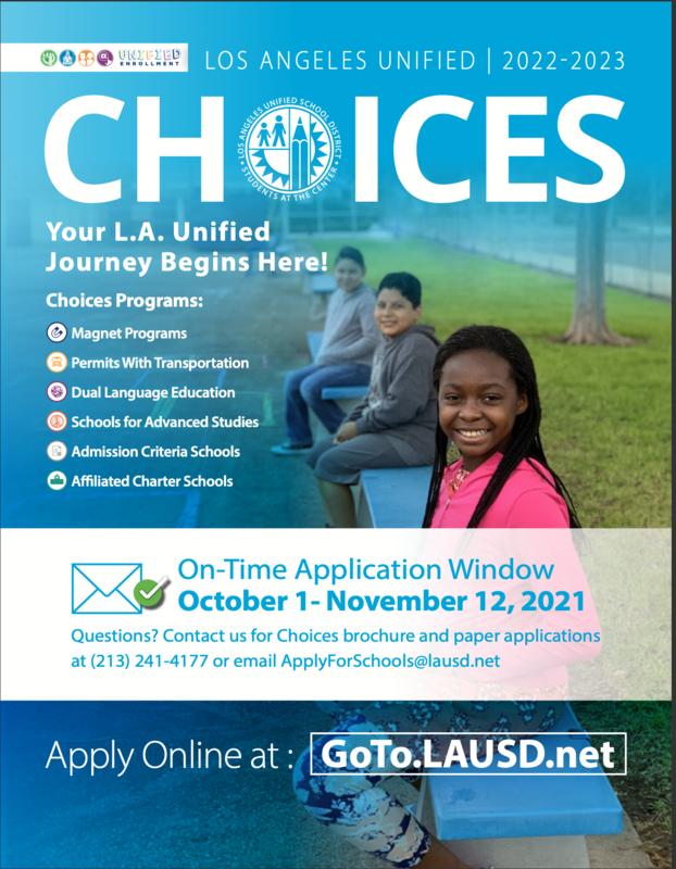 Choices On-Time Application Window October 1- November 12, 2021 Featured Photo