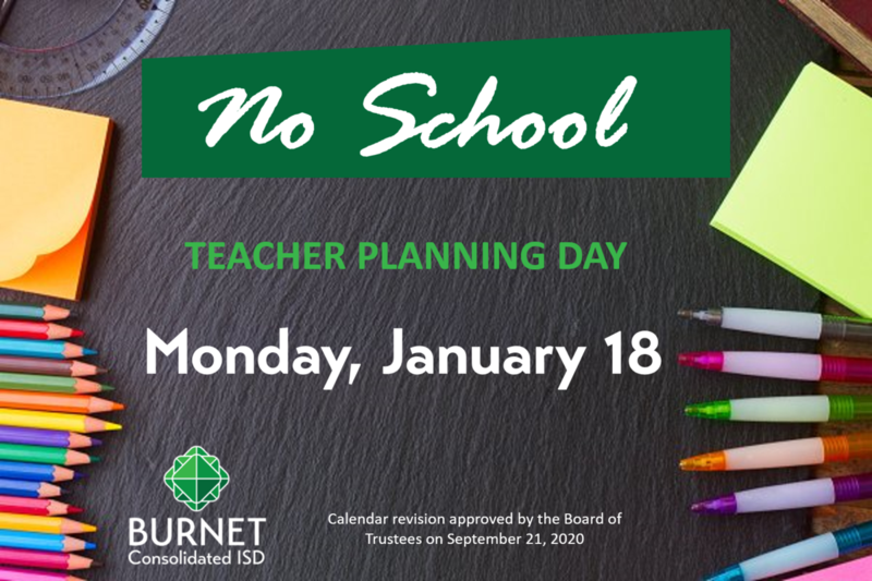 No School on Monday, January 18 - Teacher Inservice Thumbnail Image