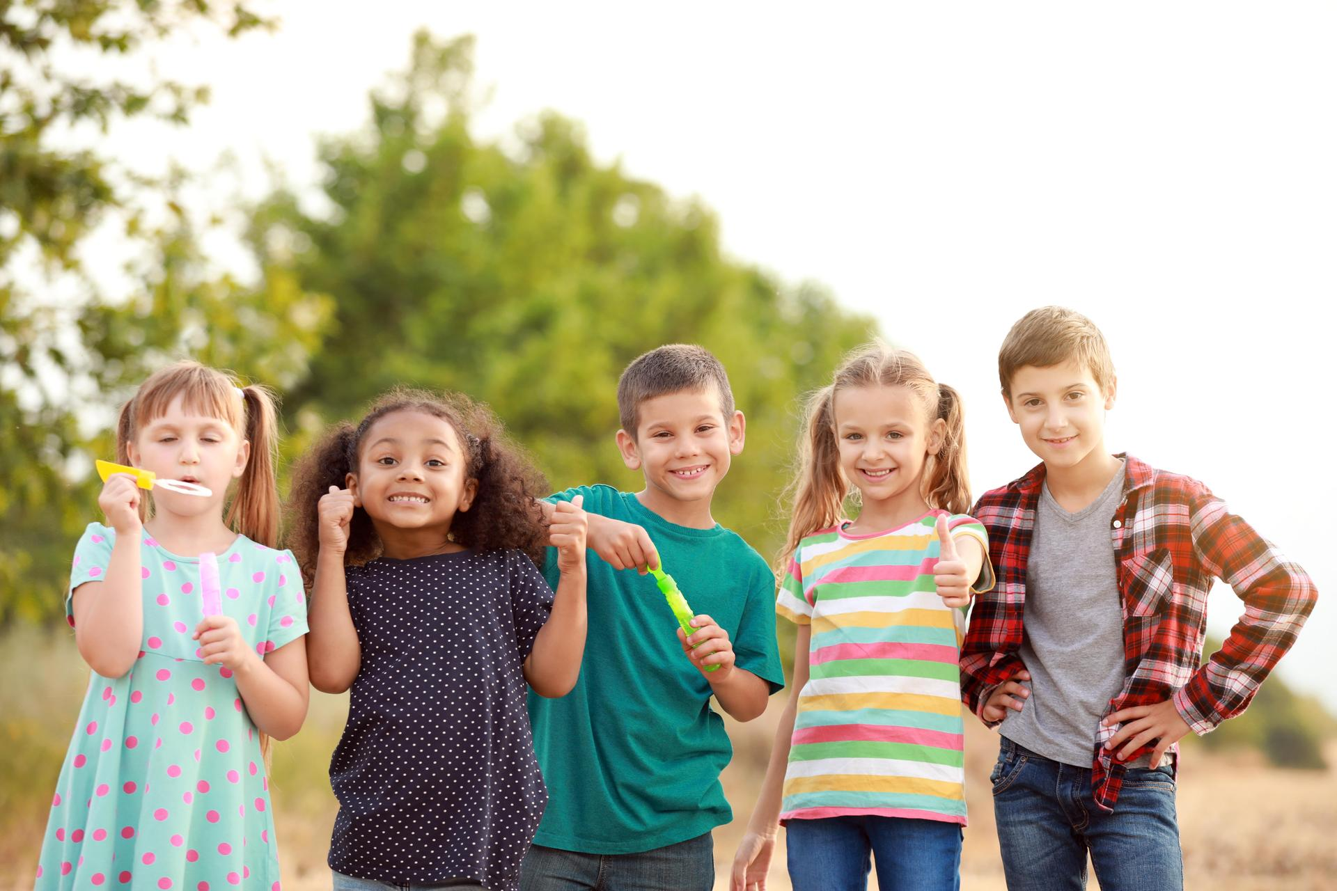photo of school-age children