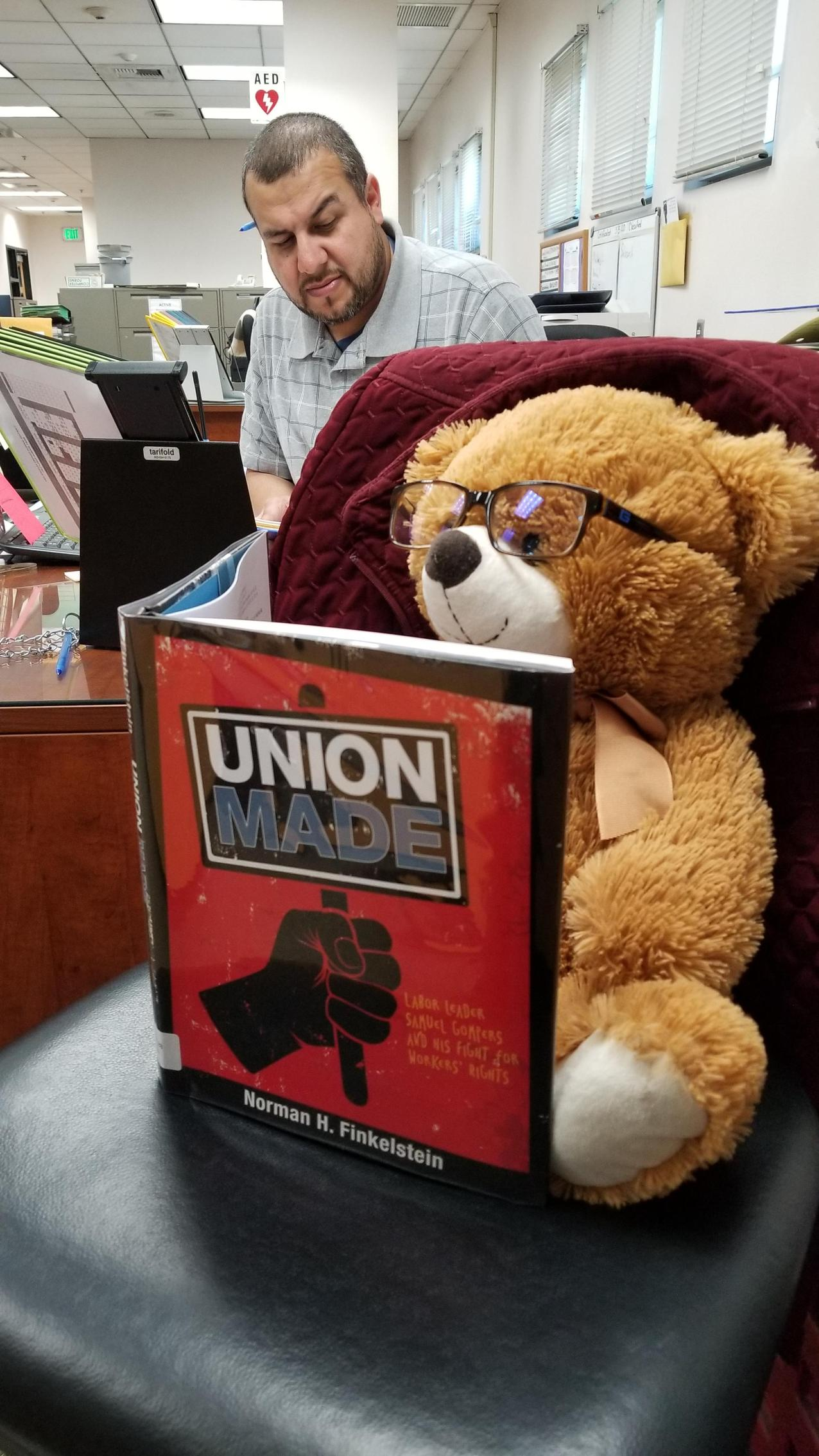 LOOK at what Roger is Reading NOW!  And where is he???