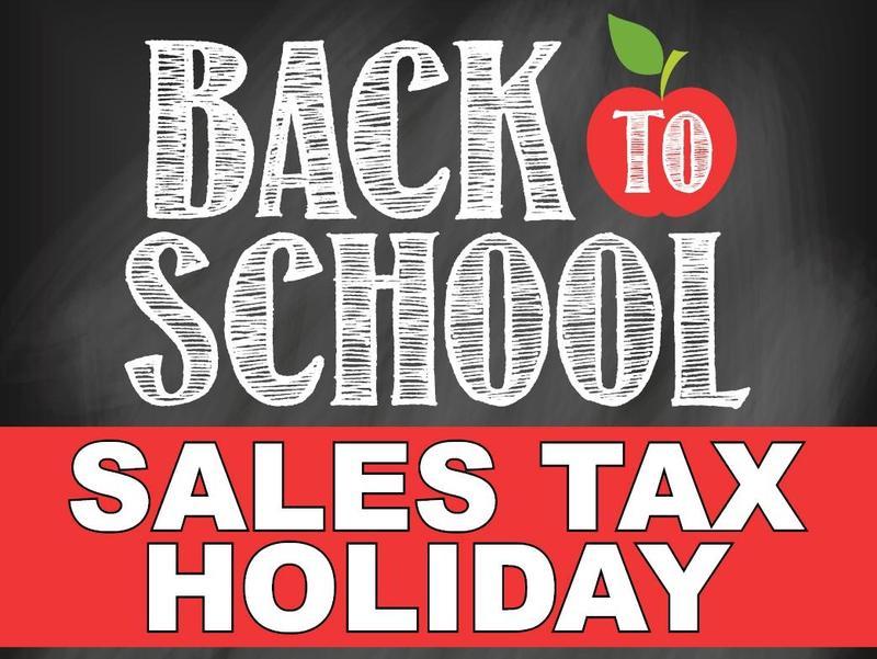 Sales Tax Holiday 2020