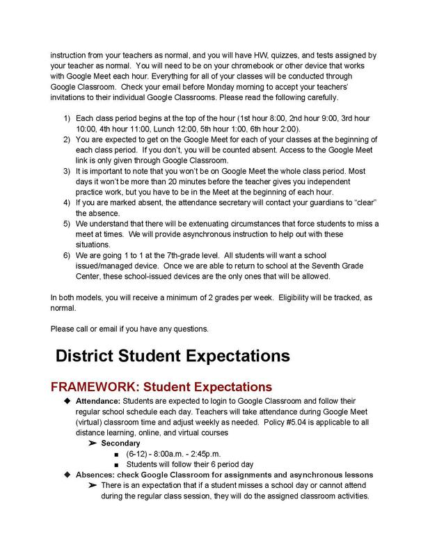 O7GC Student Expectations pg 2