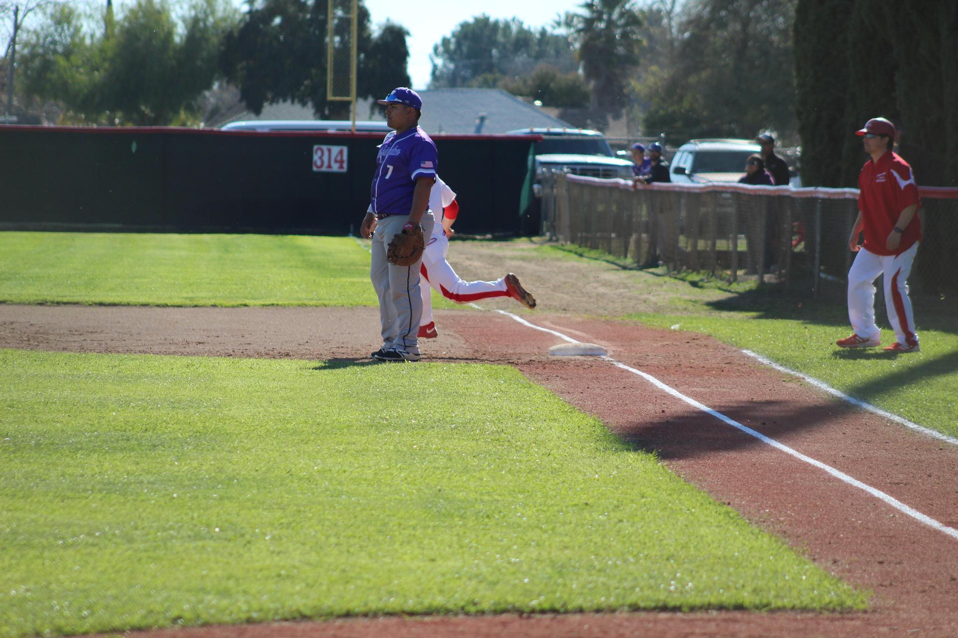 Baseball players in action against Washington Union