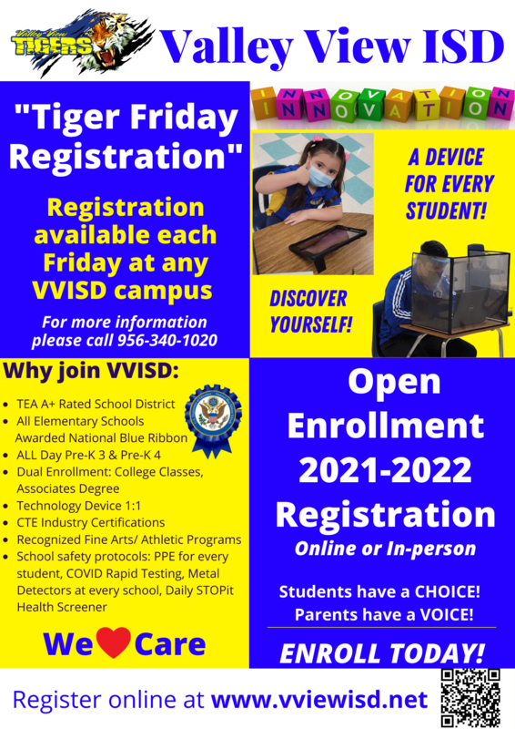 ENROLL TODAY 2021-2022 REGISTRATION! Thumbnail Image