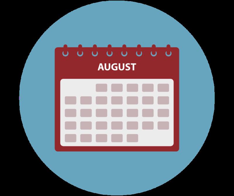 August calendar icon