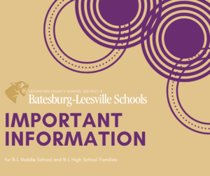 Lexington County School District Three Announces Transition Plan for Batesburg-Leesville Middle School Students