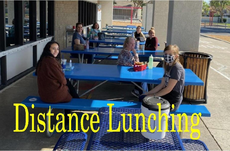 Teachers eating lunch