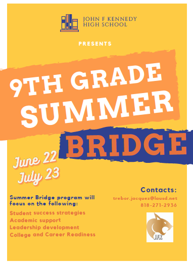 9th Grade Summer Bridge Program Open Now to Incoming Students Featured Photo