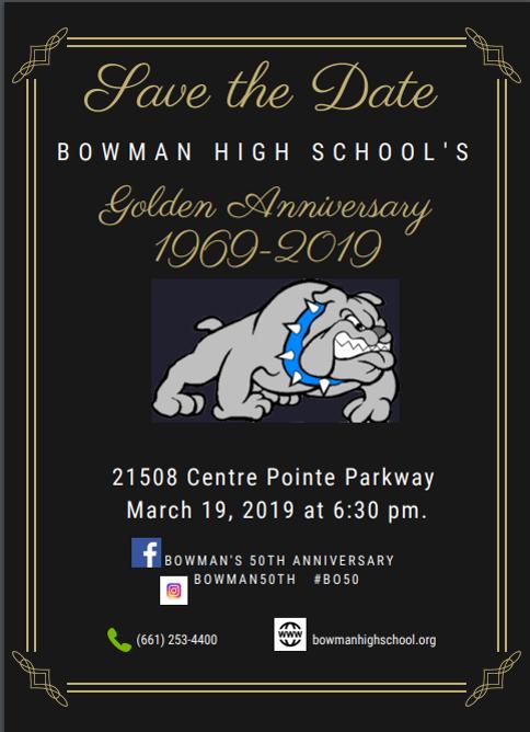 Bowman 50th Anniversary Flyer