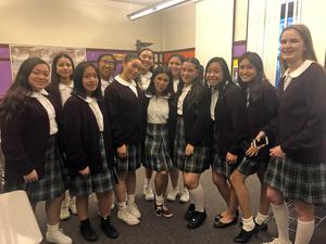 ICA Cristo Rey students participating in the film