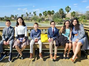 Cathey students who competed at the regional science fair on February 15.