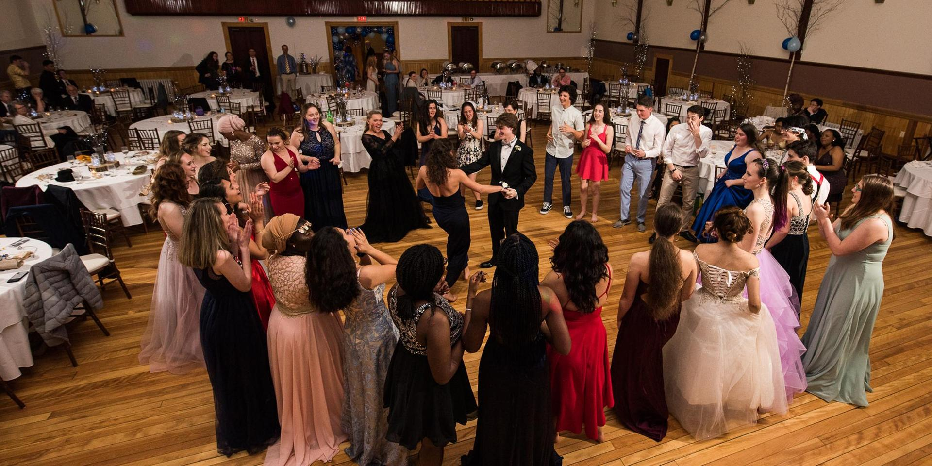 A group of students at the School's 2019 prom.