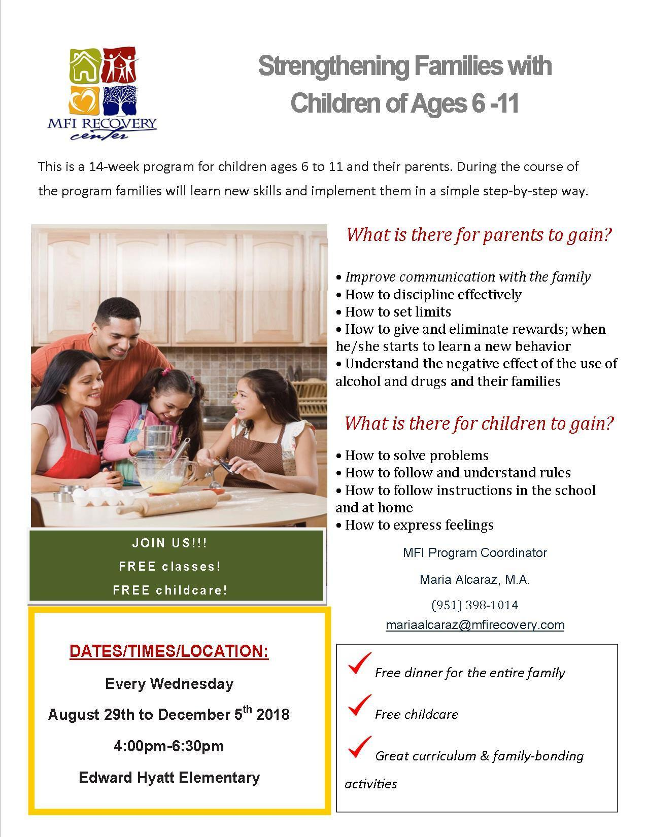Strengthening Families Parenting Classes