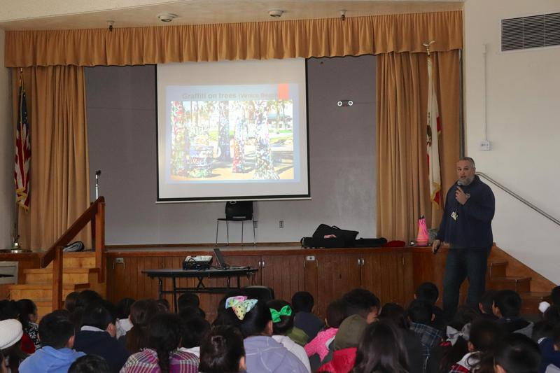 L.A. Public Works Speaks To McKibben Students About The Effects Of Graffiti Featured Photo