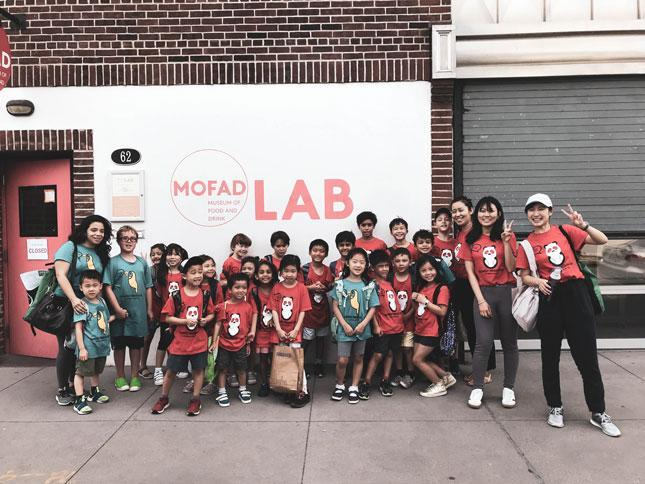 HWIS students on a field trip to the Museum of Food and Drink (MOFAD)