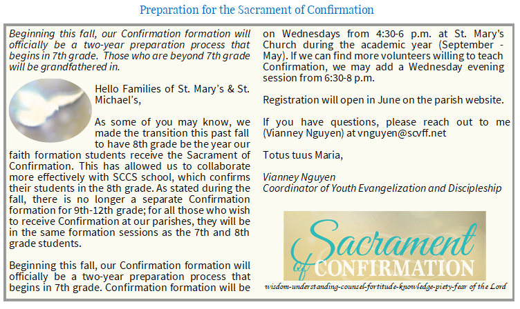 Confirmation Program