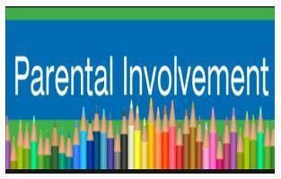 Parent Involvement logo multi colored pencils line the bottom of the page