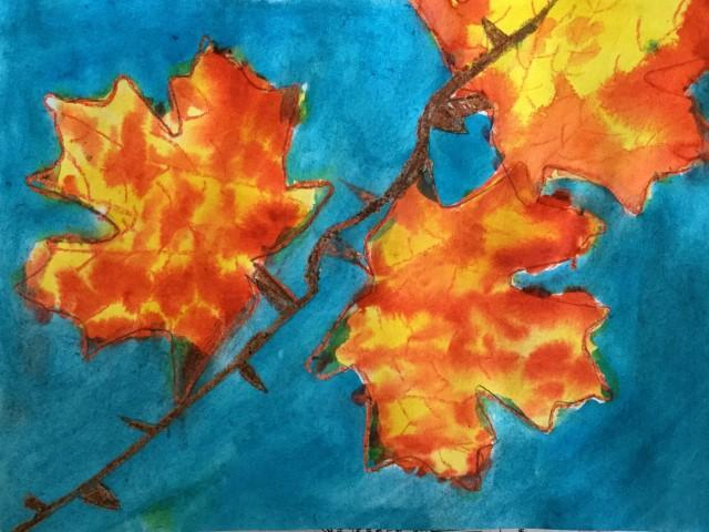 Watercolor Fall Leaves- 2nd Grade