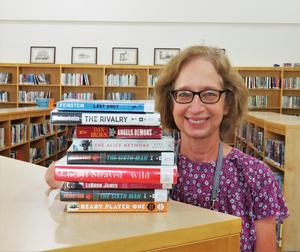 Barb Hubers is the librarian for the TKHS and Community Library.