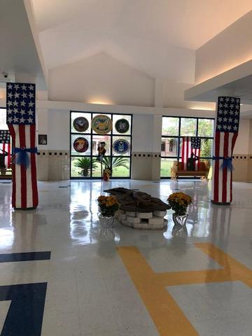 Front foyer of school at Gautier High School