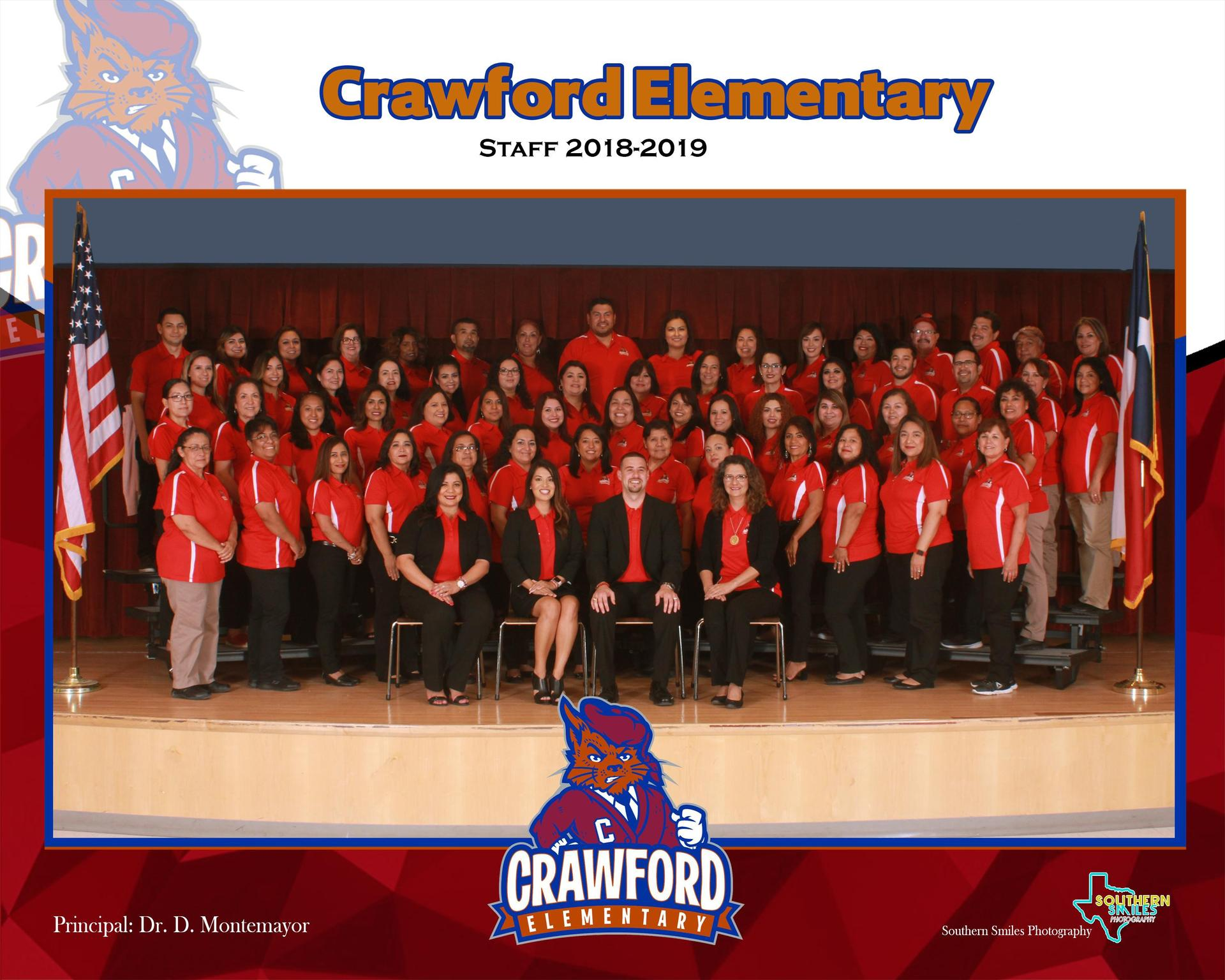 Photo of all Crawford Elementary School staff