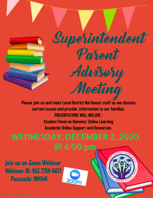 Superintendent Parent Advisory Meeting Featured Photo