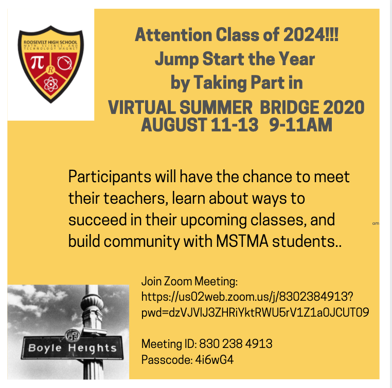 Virtual Summer Bridge for Class of 2024 Featured Photo