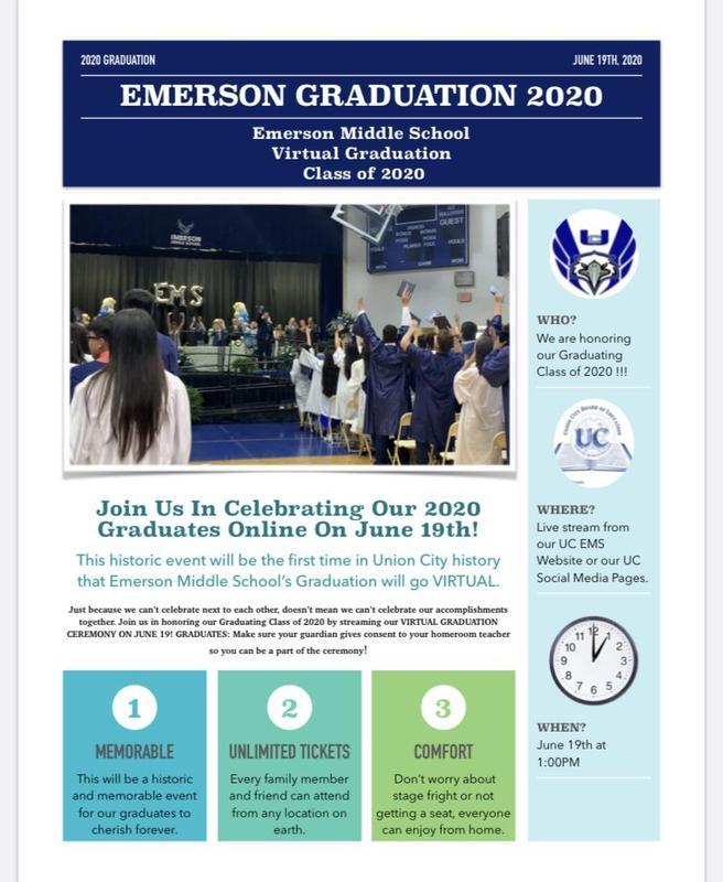 EMS Virtual Graduation Flyer