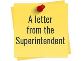 Update from our Superintendent Featured Photo