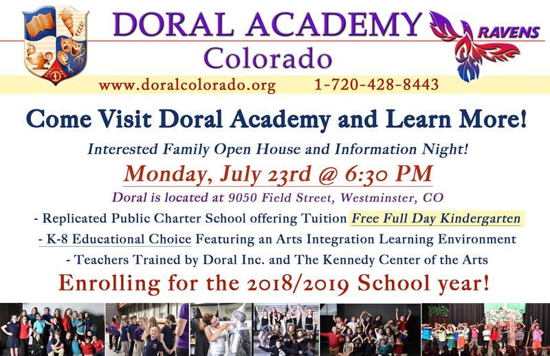 Interested in Enrolling at Doral? Family Open House! 7.23.18 at 6:30 Thumbnail Image