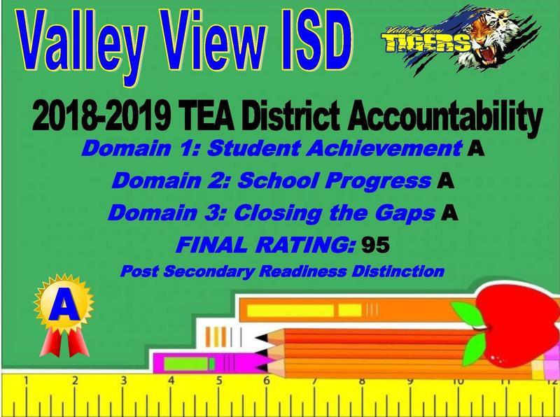 Valley View ISD Receives an A in TEA District Accountability! Thumbnail Image