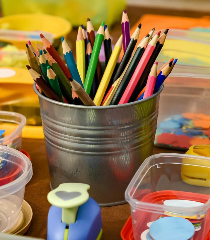 ACISD - Bucket of Colored Pencils