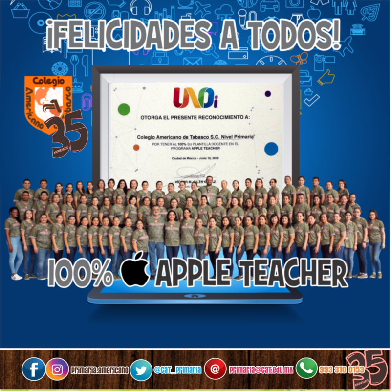 Todos nuestro personal es un Apple Teacher Featured Photo