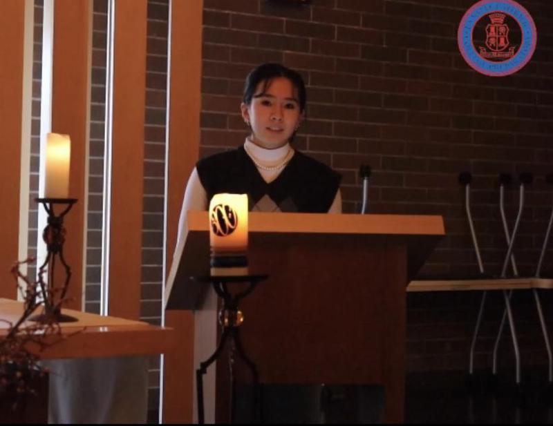 girl at altar