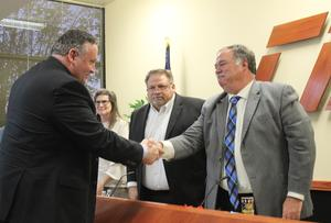 New CHS Principal welcomed by School Board President