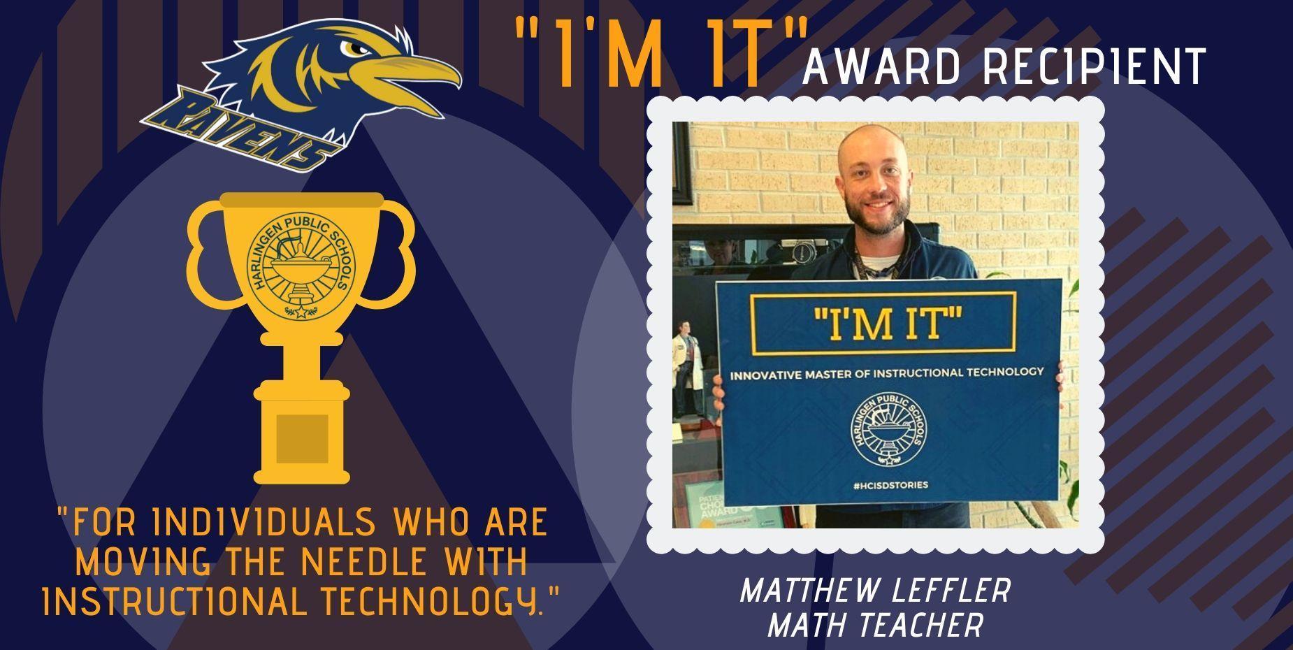 I'M IT Award Recipient